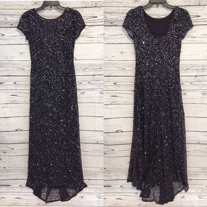 SALE! Adrianna Papell Short Sleeve Sequin Dress